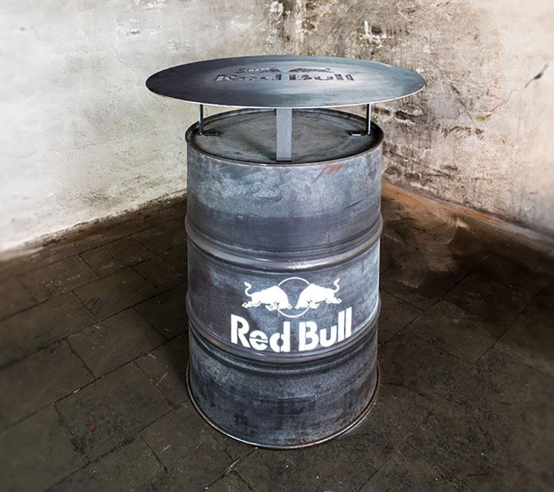 Local Heros Dortmund - Unser Baby, die Stehtonne - Firmenlogos für Red Bull