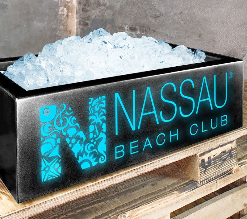 Eiswannen - LHD-Special Crushed-Ice-Wanne Nassau Beach Club