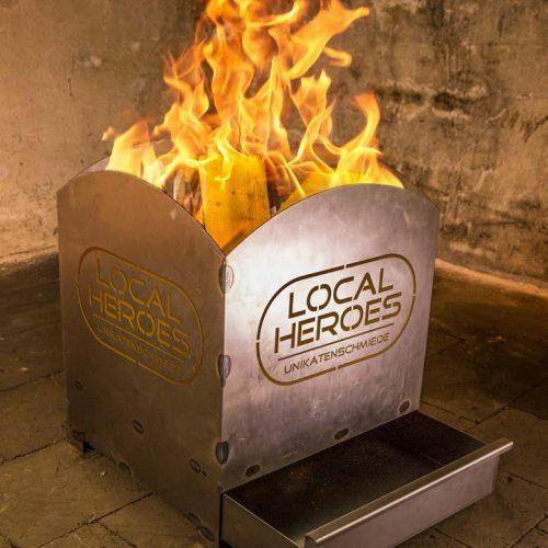 Feuerstelle mit individueller Beschriftung - Feuerstelle mit individueller Beschriftung