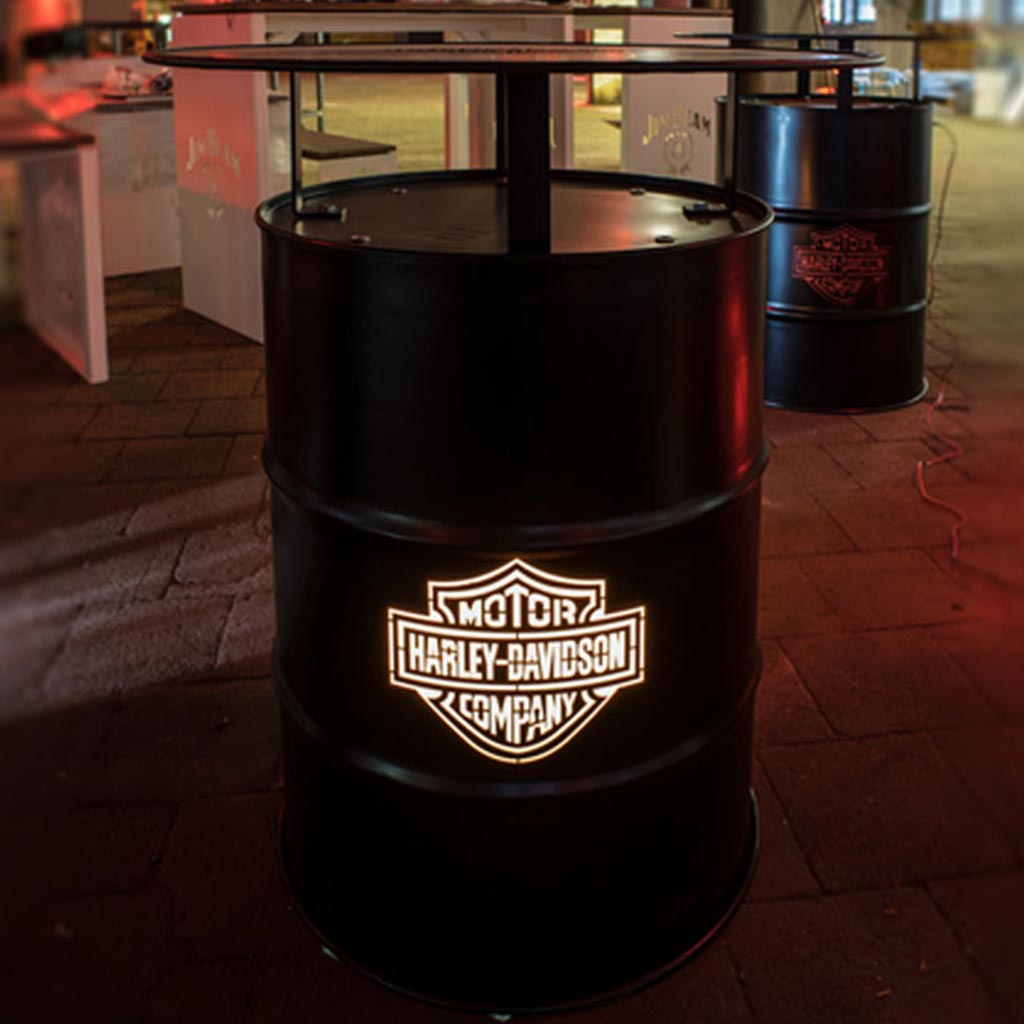 Stehtischtonnen - LHD-Stehtischtonne-Harley-Davidson